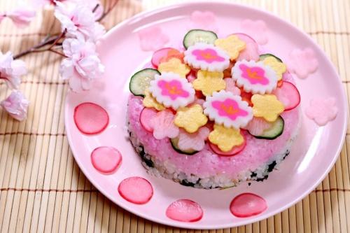 ひな祭り三色&水玉寿司ケーキ レシピ・作り方