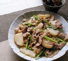 豚こま肉とカブのコッテリ甘酢炒め