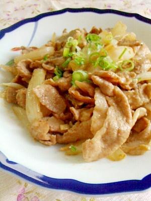 子どもにも好評♪豚肉と玉ねぎのガリマヨポン♪ レシピ・作り方