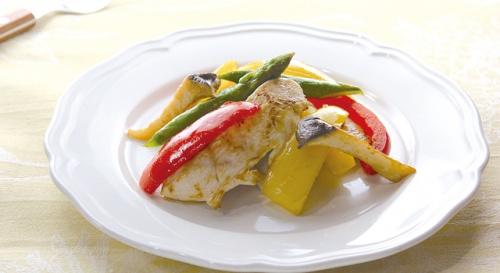 鶏肉の彩りマリネ焼き