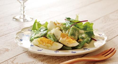 モロッコいんげんとゆで卵のサラダ