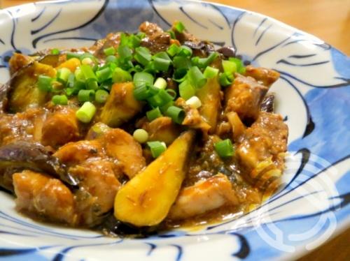 ナスとサバ缶の中華風味噌炒め レシピ・作り方