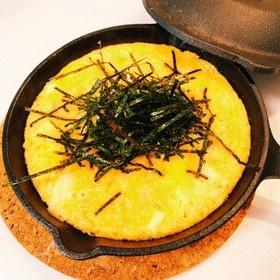 簡単おつまみ♡明太チーズとろろ焼き