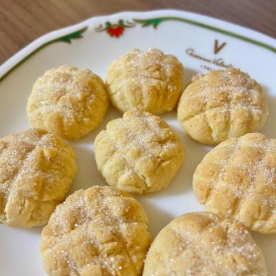 【簡単!】メロンパン風クッキー(卵・バターなし) レシピ・作り方