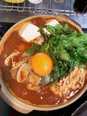 簡単☆あさりの純豆腐チゲ