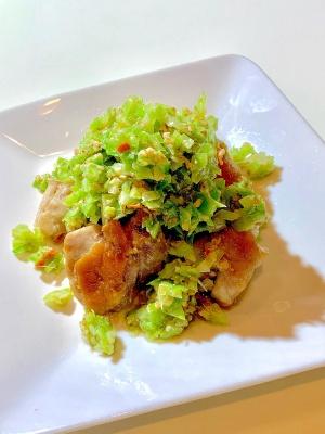 塩ダレキャベツで食べる鶏モモ焼き♡ レシピ・作り方