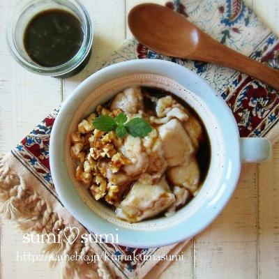 台湾スイーツ・バナナの豆花(トウファ) レシピ・作り方