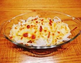 厚揚げの新玉ねぎチーズ焼き